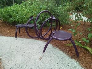 Double Purple Whisper Bench