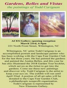 Gardens, Belles and Vistas ACES Art Show