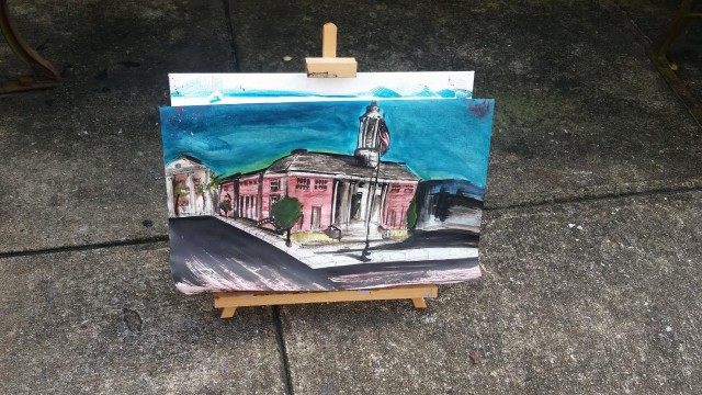 First Place – Youth Paint Out Wilmington! – Maxwell Reinbachs