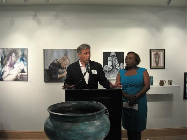 Mayor Saffo and Arts Council ED Rhonda Bellamy