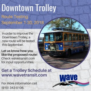 Trolley Sept 1 to 30