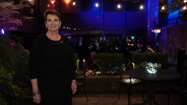 At the Arty Party:  Mayor Pro-Tem Margaret Haynes